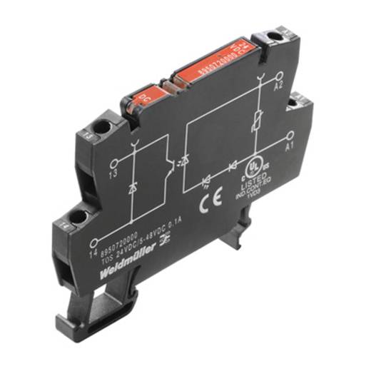Optokopplerrelais 10 St. Weidmüller TOS 24VDC/230VAC 0,1A Schaltspannung (max.): 230 V/AC