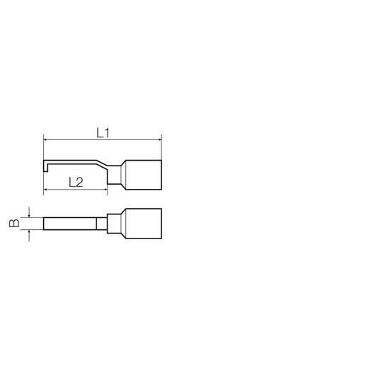 Stiftkabelschuh hakenförmig 1 mm² 2.5 mm² Teilisoliert Schwarz Weidmüller 9036300000 100 St.