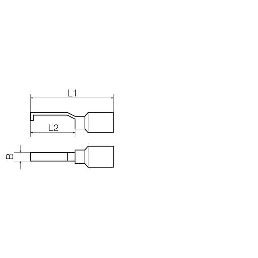 Stiftkabelschuh hakenförmig 1 mm² 2.50 mm² Teilisoliert Schwarz Weidmüller 9036300000 100 St.