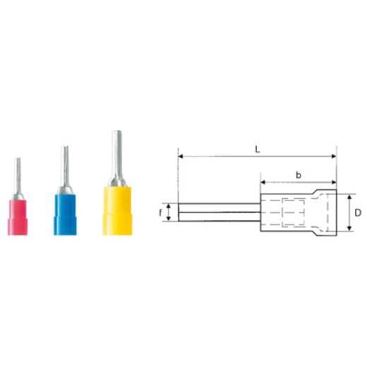 Stiftkabelschuh 0.5 mm² 1.5 mm² Teilisoliert Rot Weidmüller 9200460000 100 St.