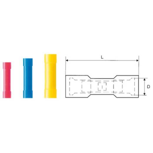 Stoßverbinder 0.50 mm² 1.50 mm² Vollisoliert Rot Weidmüller 9200490000 100 St.