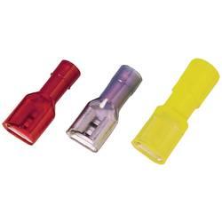 Faston zásuvka Weidmüller 9200660000 6.3 mm x 0.8 mm, 180 °, úplne izolované, žltá, 100 ks