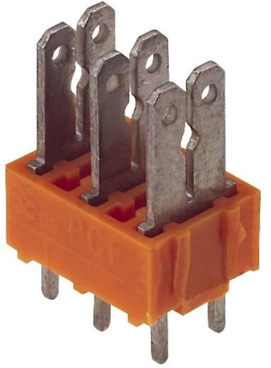 Flachsteckverteiler Steckbreite: 6.3 mm Steckdicke: 0.8 mm 180 ° Teilisoliert Orange, Silber Weidmüller 9500530000 50 S