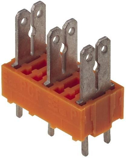 Flachsteckverteiler Steckbreite: 6.3 mm Steckdicke: 0.8 mm 180 ° Teilisoliert Orange, Silber Weidmüller 9500630000 50 St.