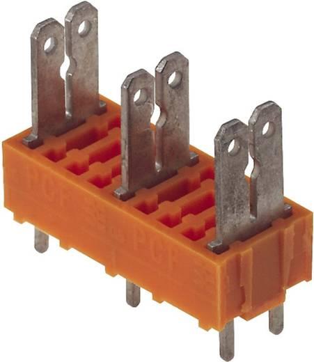 Flachsteckverteiler Steckbreite: 6.3 mm Steckdicke: 0.8 mm 180 ° Teilisoliert Orange, Silber Weidmüller 9500820000 50 St.