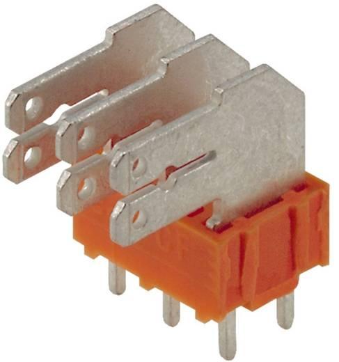 Flachsteckverteiler Steckbreite: 6.3 mm Steckdicke: 0.8 mm 90 ° Teilisoliert Orange, Silber Weidmüller 9511500000 50 St