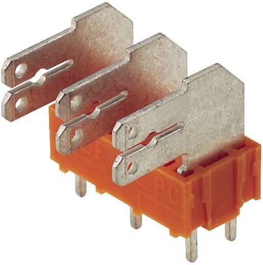 Flachsteckverteiler Steckbreite: 6.3 mm Steckdicke: 0.8 mm 90 ° Teilisoliert Orange, Silber Weidmüller 9511680000 50 St