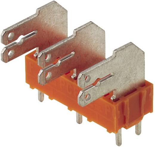 Flachsteckverteiler Steckbreite: 6.3 mm Steckdicke: 0.8 mm 90 ° Teilisoliert Orange, Silber Weidmüller 9511700000 100 S