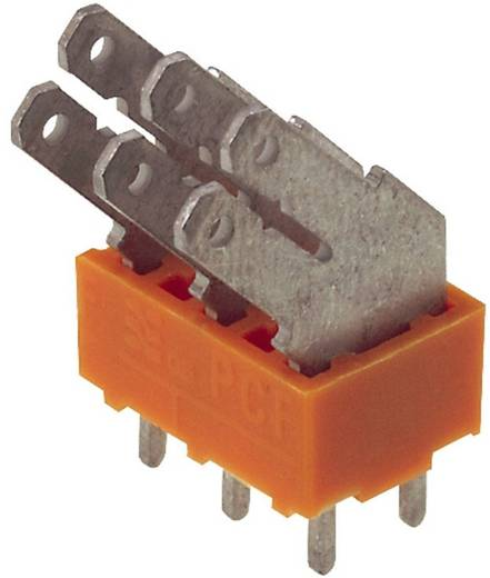 Flachsteckverteiler Steckbreite: 6.3 mm Steckdicke: 0.8 mm 135 ° Teilisoliert Orange, Silber Weidmüller 9511960000 50 St.
