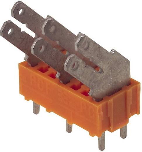 Flachsteckverteiler Steckbreite: 6.3 mm Steckdicke: 0.8 mm 135 ° Teilisoliert Orange, Silber Weidmüller 9512060000 50 S