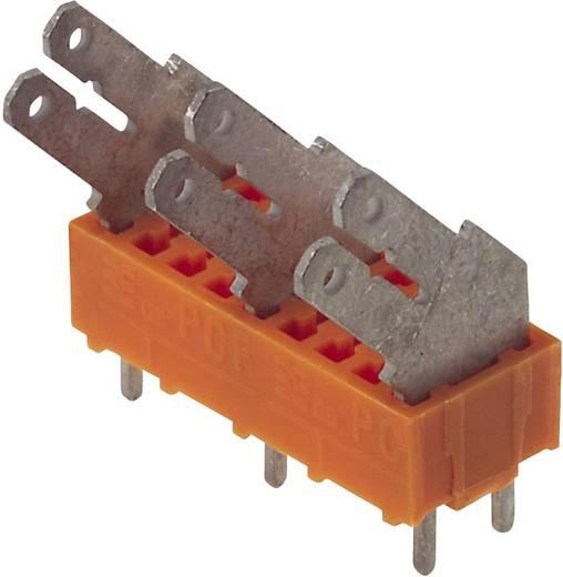 Flachsteckverteiler Steckbreite: 6.3 mm Steckdicke: 0.8 mm 135 ° Teilisoliert Orange, Silber Weidmüller 9512110000 100 St.