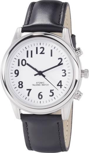 Funk Armbanduhr RATK34-A307-01 9070c14 (Ø x H) 42 mm x 16 mm Silber Gehäusematerial=Edelstahl Material (Armband)=Leder