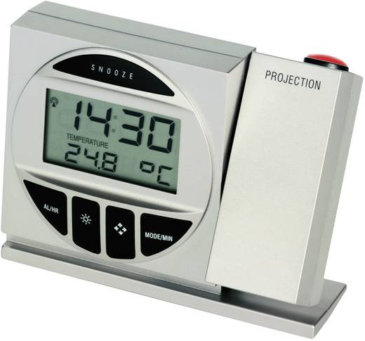 Funk Projektionsuhr digital TFA 98.1009 98.1009 Silber