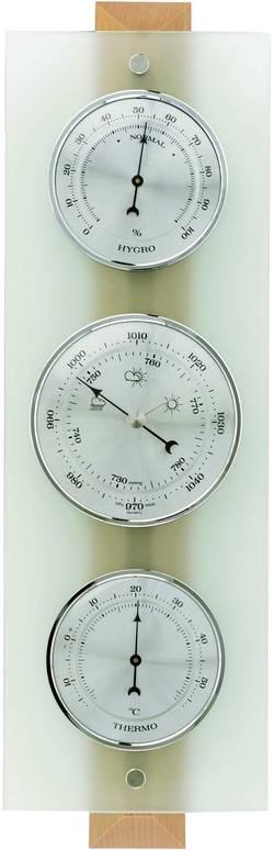 Analogová meteostanice TFA 120 x 55 x 385 mm 20.1067.05, přírodní buk, matné sklo
