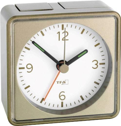 Quarz Wecker TFA 60.1016.08 Bronze Alarmzeiten 1 Fluoreszierend Zeiger