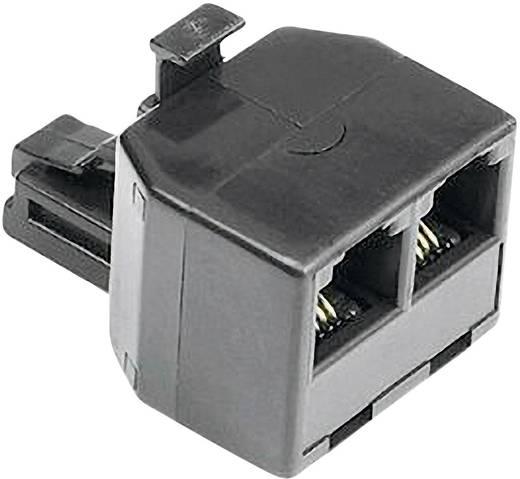 ISDN Adapter [1x RJ11-Stecker 6p4c - 2x RJ11-Buchse 6p4c] 0 m Schwarz Hama