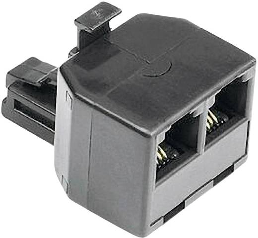 Telefon (analog), Fax Adapter [1x RJ11-Stecker 6p4c - 2x RJ11-Buchse 6p4c] 0 m Schwarz Hama