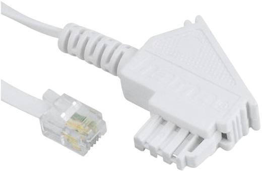 Hama Telefonanschlusskabel TAE F-Stecker - Modular-Stecker 6p4c, 10 m, Weiß