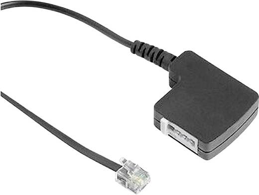 ISDN Adapter [1x RJ11-Stecker 6p4c - 1x TAE-F-Buchse] 0.20 m Schwarz Hama