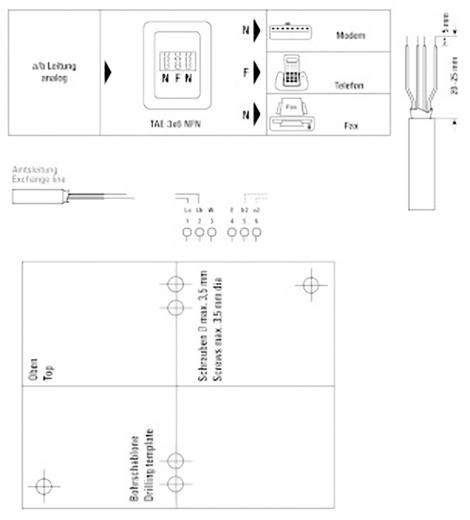 Telefondose Hama NFN-Kupplung Aufputz Weiß