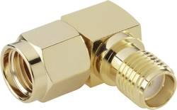 SMA Reverse zástrčka / SMA zásuvka BKL Electronic 0419111, 50 Ω, adaptér úhlový