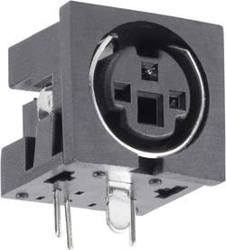 Mini DIN embase femelle horizontale BKL Electronic 0204047 Nombre total de pôles: 4 noir 1 pc(s)