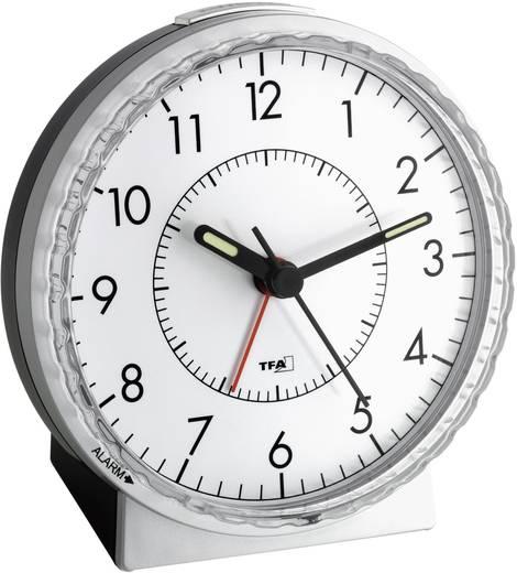 Quarz Wecker TFA 60.1010 Silber Alarmzeiten 1 Fluoreszierend Zeiger