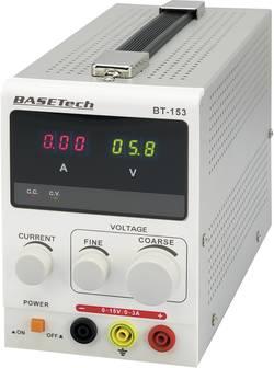 Alimentation de laboratoire réglable Basetech BT-153 0 - 15 V/DC 0 - 3 A 45 W Nbr. de sorties 1 x 1 pc(s)