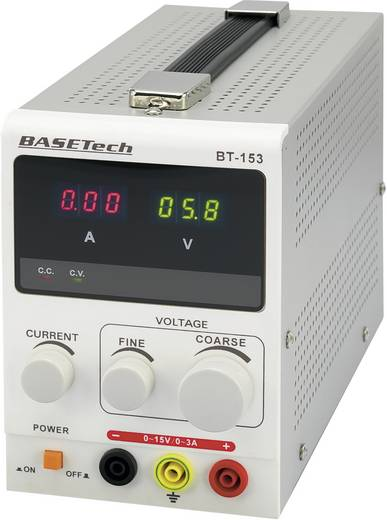 Labornetzgerät, einstellbar Basetech BT-153 0 - 15 V/DC 0 - 3 A 45 W Anzahl Ausgänge 1 x Kalibriert nach DAkkS