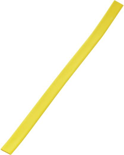Schrumpfschlauch ohne Kleber Gelb 12 mm Schrumpfrate:3:1 393740 Meterware