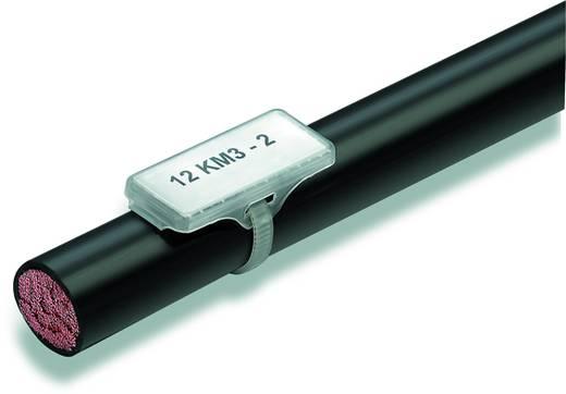 Zeichenträger Montageart: Kabelbinder Beschriftungsfläche: 30 x 8 mm Passend für Serie Einzeldrähte, Universaleinsatz Transparent Weidmüller WKM 8/30 1631910000 50 St.