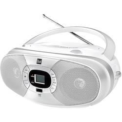 FM rádio s CD prehrávačom Dual P390, CD, MW, UKW, USB, biela