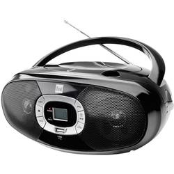 FM rádio s CD prehrávačom P391, CD, UKW, USB, čierna