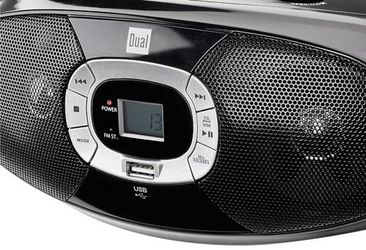 UKW CD-Radio Dual P 390 CD, MW, UKW, USB Schwarz