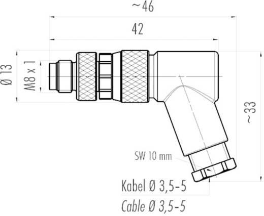 Binder 99-3383-110-04 Sensor-/Aktor-Steckverbinder, unkonfektioniert M8 Stecker, gewinkelt Polzahl: 4 1 St.