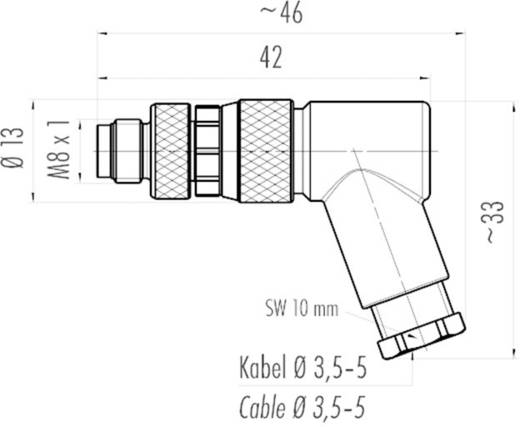 Sensor-/Aktor-Steckverbinder, unkonfektioniert M8 Stecker, gewinkelt Polzahl (RJ): 4 Binder 99-3383-110-04 1 St.