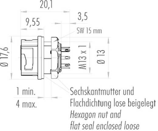 Binder 09-0774-000-08 Rundstecker Flanschbuchse Serie (Rundsteckverbinder): NCC Gesamtpolzahl: 8 1 St.