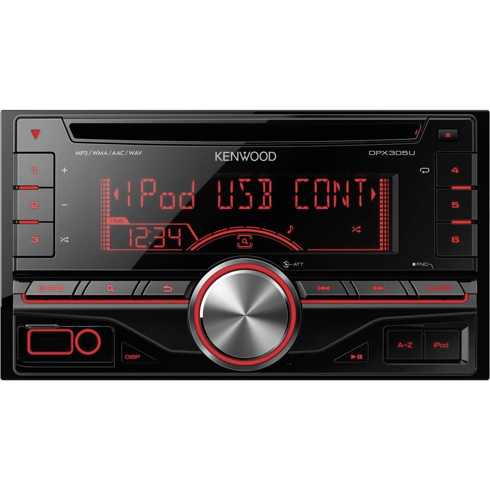 doppel din autoradio kenwood dpx 305u im conrad online shop 394326. Black Bedroom Furniture Sets. Home Design Ideas
