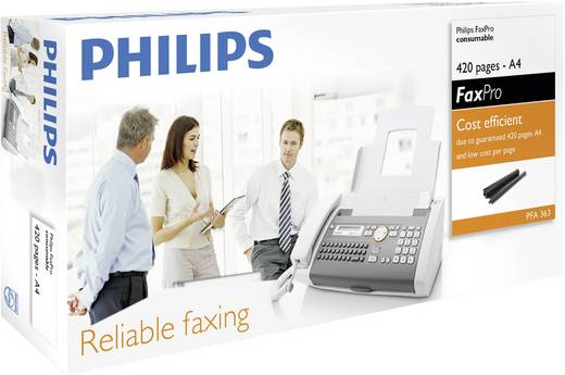 Philips Thermo-Transfer-Rolle Fax Original 420 Seiten Schwarz 1 Rolle(n) PFA 363 PFA363