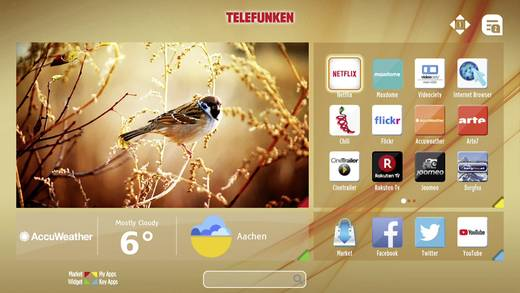 LED-TV 81 cm 32 Zoll Telefunken B32F545B EEK A+ DVB-T2, DVB-C, DVB-S, Full HD, Smart TV, WLAN, CI+ Schwarz