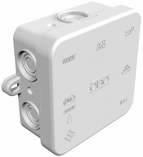 Abzweigkasten (L x B x H) 75 x 75 x 36.2 mm OBO Bettermann 2000016 Licht-Grau (RAL 7035) IP55