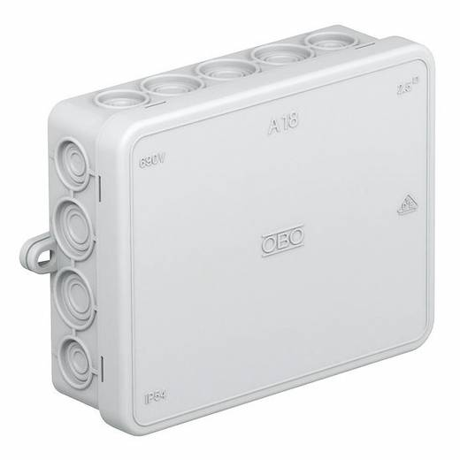 Abzweigkasten (L x B x H) 125 x 100 x 40 mm OBO Bettermann 2000410 Licht-Grau (RAL 7035) IP55