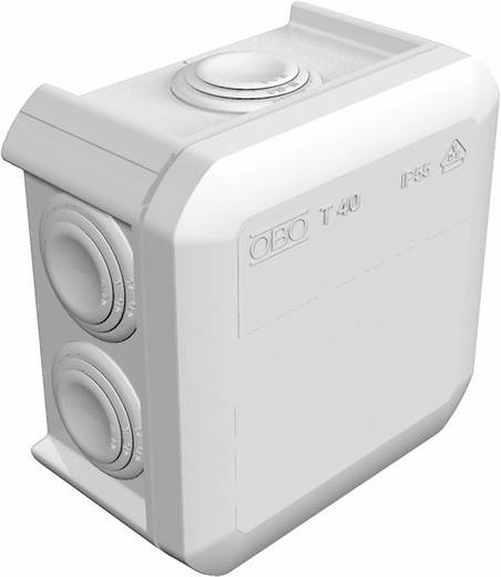 Abzweigkasten (L x B x H) 90 x 90 x 52 mm OBO Bettermann 2007432 Licht-Grau (RAL 7035) IP55