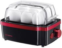 Vařič vajec Severin EK 3156, černá, červená (metalíza)