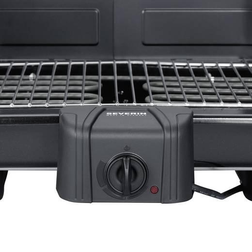 Tisch Elektro-Grill Severin PG 2791 mit manueller Temperatureinstellung Schwarz