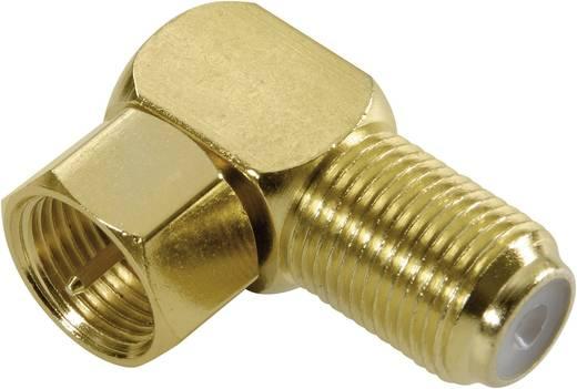 Vivanco SAT-Winkeladapter F-Stecker auf F-Buchse Vergoldet SAT Steckverbinder