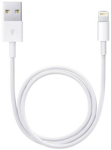 iPad/iPhone/iPod Datenkabel/Ladekabel [1x USB 2.0 Stecker A - 1x Apple Dock-Stecker Lightning] 1 m Weiß Apple (Bulk-Ware