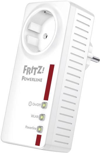 Powerline WLAN Einzel Adapter 500 MBit/s AVM FRITZ! Powerline 546E mit intelligenter Steckdose