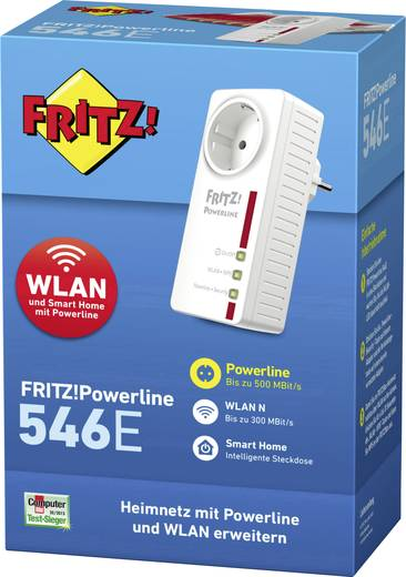 powerline wlan einzel adapter 500 mbit s avm fritz. Black Bedroom Furniture Sets. Home Design Ideas