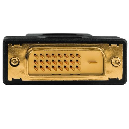 DVI / HDMI Adapter [1x DVI-Stecker 24+1pol. - 1x HDMI-Buchse] Schwarz vergoldete Steckkontakte Hama